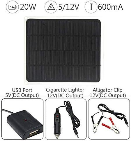 Finelyty 20W Solar Panel Monokristalline, Premium-Qualität PV Photo-Voltaic Panel Für Auto Yacht RV Lampe Aufladen Mit USB