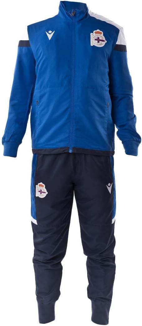 Ch/ándal Blue-Navy Macron RC Deportivo La Coru/ña Player Travel 2020-2021
