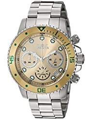 Invicta Mens Pro Diver Chrono Stainless Steel Champagne Dial Watch (21888)