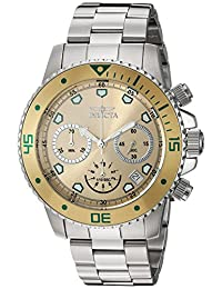 Invicta Men's 'Pro Diver' Quartz Stainless Steel Automatic Watch, Silver-Toned (Model: 21888)