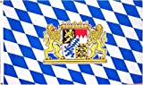 Bavaria National Country Flag - 3 foot by 5 foot Polyester (New)
