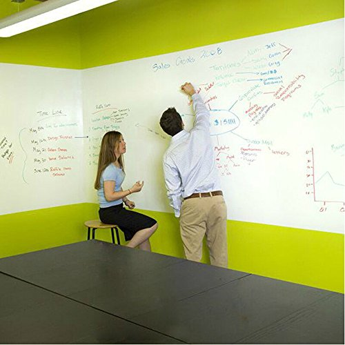 Coavas White Board Sticker, Peel and Stick Dry Erase Message Board Decal for Home and Office with a Black Pen