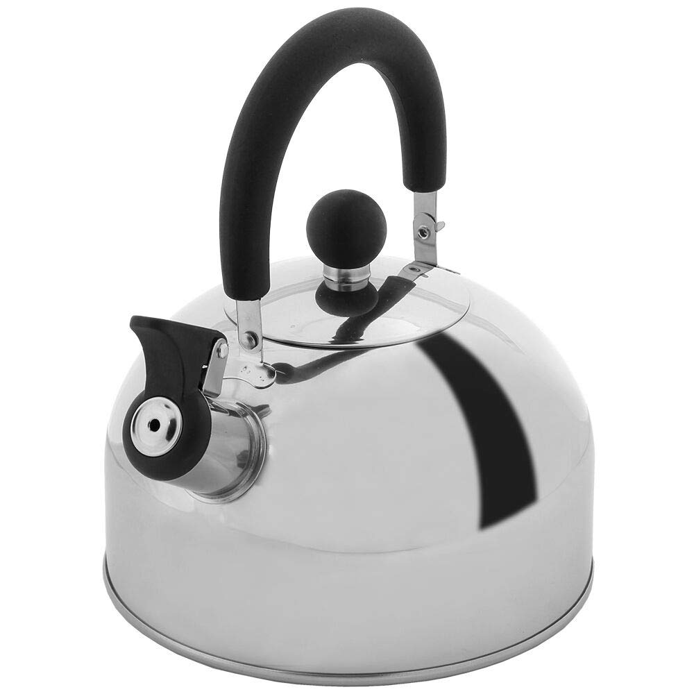 Lily's Home 2 Quart Stainless Steel Whistling Tea Kettle, the Perfect Stovetop Tea and Water Boilers for Your Home, Dorm, Condo or Apartment. by Lily's Home