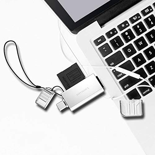 Support SD//TF Card Color : Silver Gold Car Reader WHF YAOMAISI Q25 2 in 1 USB 3.0 to Type-C Metal Memory Card Reader