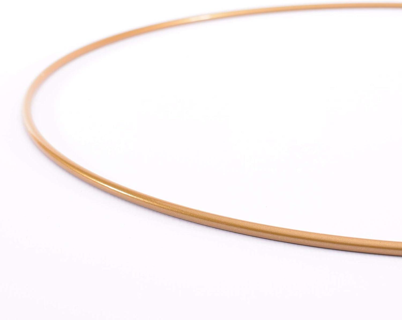 Dekoringe /Ø 25 cm aus 3 mm Metalldraht Makramee Knoten zum Traumf/änger Basteln Mandala H/äkeln sowie Gestalten weiterer Wanddeko und Fensterdeko 4 St/ück Antik Gold Vaessen Creative Metallringe