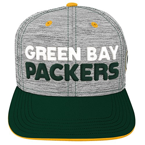 Outerstuff NFL NFL Green Bay Packers Youth Boys Space Dye Snapback Hat Heather Grey, Youth One Size