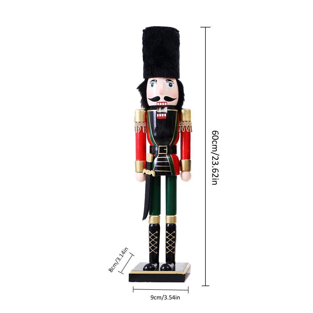 60 cm de No/ël Britannique Vent Soldat Casse-Noisette Soldat Artisanat en Bois Fait Main No/ël Cadeaux de No/ël de d/écoration pour la Maison pour Enfants