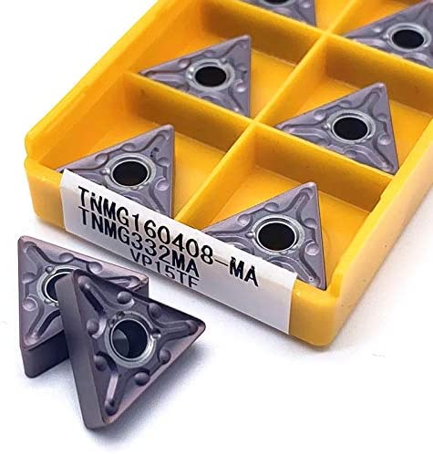 WITHOUT BRAND 10pcs / Set TNMG160408 MA VP15TF 10pcs TNMG 160408 Carbide Insert Drehschneidwerkzeuge Externe Drehwerkzeug VHM-Insert (Farbe : TNMG160408 MA VP15TF)