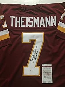 "Autographed/Signed Joe Theismann ""83 NFL MVP"" Washington Redskins Burgundy Football Jersey JSA COA"