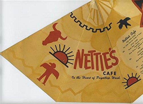 Postcard Teepee (Nettie's Cafe Menu Puyallup Washington Teepee Shaped)