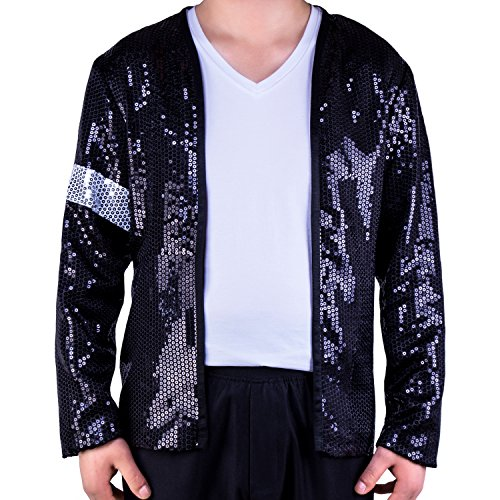 [Mjb2c - Michael Jackson Costume Billie Jean Armband Sequin Jacket - Medium] (Michael Jackson Billie Jean Costumes)