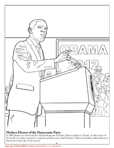 president barack obama vice president joe biden 2012 coloring activity and song book 85 x 11 coloringbookcom really big coloring books - Barack Obama Coloring Book
