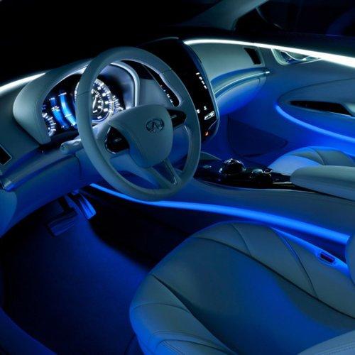 Led Light Strips For Car Interior Simple Amazon 60x Mini Flexible Ultra Blue 360 SMD LED Lamp Scanner