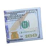 Hemlock Dollar Bill Wallet, PU Leather Wallet Credit Card Photo Wallet Purse Mini Handbag (C)