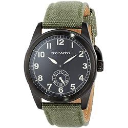 Szanto Men's SZ 1002 1000 Series Vintage-Inspired Military Field Watch