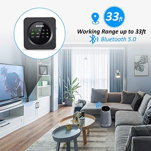 Bluetooth 5 0 Transmitter Receiver Boiros 2 In 1 Wireless