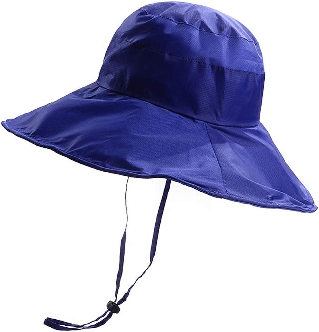 BeFur Fishing Rain Hat for Men Women Wide Brim UV Protection Boonie Hat Outdoor Safari Cap Blue at  Women's Clothing store