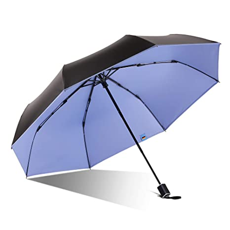 9147a1f7507e BOY Compact Umbrella Reinforced Windproof Frame, Small Umbrella UV Umbrella  99% UV Protection, Travel Umbrella Lightweight with Gift Box for Women ...