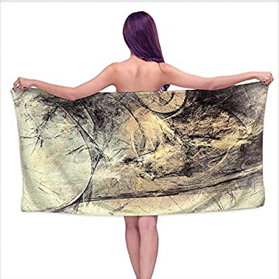 Beach Towel Super Soft & Absorbent ?Grey Yellow Color Grunge Vintage Scratch backgroun,Perfect for The Beach, Bath and Pool