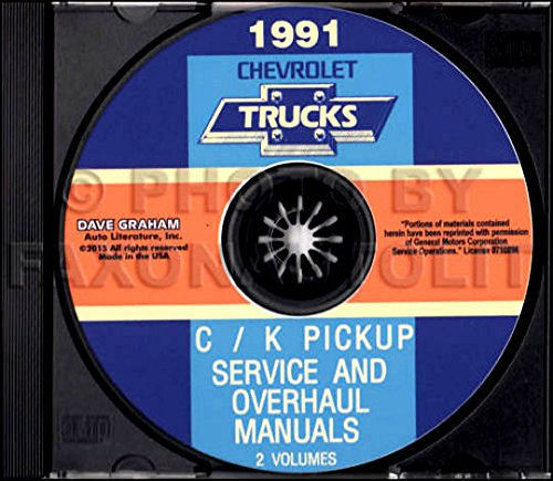 Pickup 454ss (STEP-BY-STEP 1991 CHEVROLET TRUCK & PICKUP FACTORY REPAIR SHOP & SERVICE MANUAL CD Includes C/K Truck, Silverado, Scottsdale, 454SS, Dually, Extended Cab, 1500, 2500, 3500 Gas & Diesel)