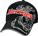 Black Deluxe US Marines Globe Anchor Insignia Cap