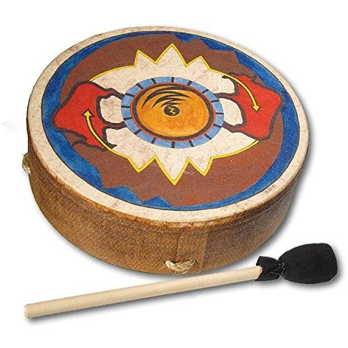 remo 12 inch buffalo drum with sun buffalo design