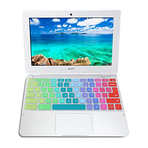 60%OFF GMYLE Rainbow Silicon Keyboard Cover for Acer 11 6