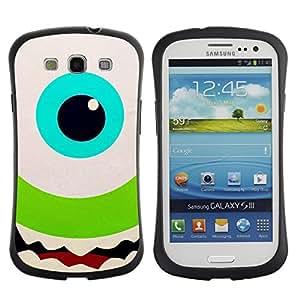 Paccase / Suave TPU GEL Caso Carcasa de Protección Funda para - Green Eye Happy Kids Cartoon - Samsung Galaxy S3 I9300