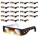Frienda 20 Pack Eclipse Glasses, CE and ISO Certified, Safe Solar Viewing, Viewer and Filter, Eye Protection