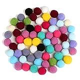 "Naler 300pcs 1"" Assorted Pom Poms for DIY Creative Crafts Decorations"