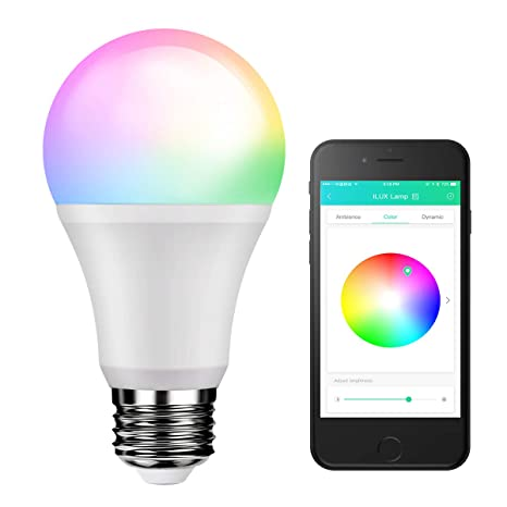 LE iLUX Bluetooth Mesh Smart Light Bulb, RGBW and White Light, No Hub  Required, Voice/Music Sync, Dimmable, Color Changing, 9W 800lm A19 E26 LED