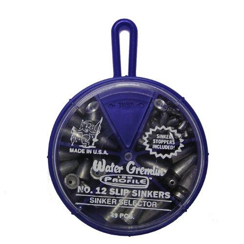 - Water Gremlin Low Profile Slip-Sinker Selector, 8ea/1,7ea/2, 6ea/3, 4ea/4 24ea/Sinker Stoppers