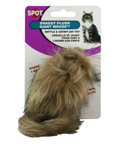 Ethical Shaggy Plush Giant Mouse Cat Toy with Catnip, My Pet Supplies
