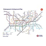 "Pyramid International "" Shakespeare's Underground Map"" Maxi Poster, Multi-Colour, 61 x 91.5 x 1.3 cm"