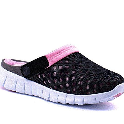 Xing Lin Sandalias De Hombre Los Hombres Del Agujero De Verano Zapatos Zapatillas Zapatillas De Playa De Ventilación De Tendencia Media Zapatillas Honeycomb Sandpiper Sandalias Pink