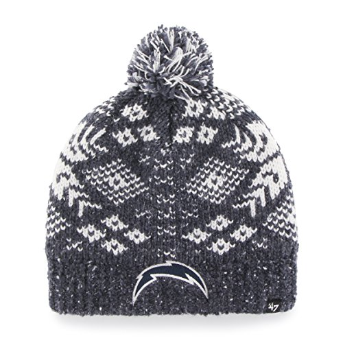 Chargers San Womens Diego ('47 NFL San Diego Chargers Women's Georgie Knit Beanie, One Size, Navy)