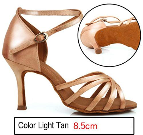 (Women's Tango/Ballroom/Latin Dance Dancing Shoes High Heel Professional Dancing Shoes,Lavender,4.5)
