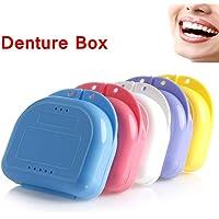 Caja de almacenamiento de dentadura ortodoncia dental, contenedor