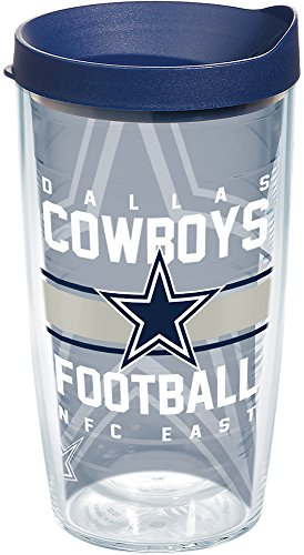 - Tervis 1180434 NFL Dallas Cowboys Gridiron Tumbler with Wrap and Navy Lid 16oz, Clear