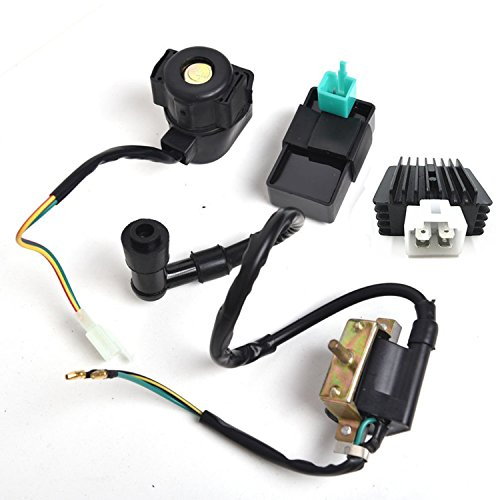 (Outdoors & Spares Replaces CDI Box Ignition Coil Solenoid Relay Voltage Regulator for 50cc 70cc 90cc 110cc 125cc Chinese ATV Dirt Bike and Go Kart)