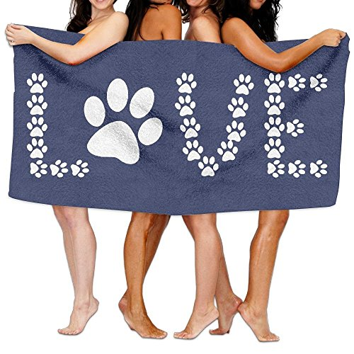 ZengJianSm Unisex Animal Lover Dog Paw Print Beach Towels Washcloths Bath Towels For Teen Girls Adults Travel Towel Pool And Gym Use 31x51 Inches by ZengJianSm