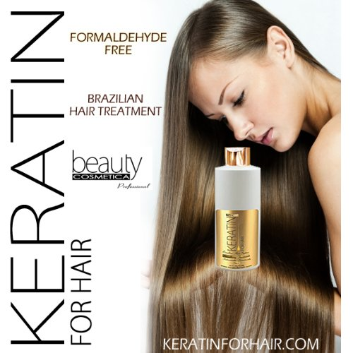 KERATIN FOR HAIR SMOOTHING BRAZILIAN KERATIN TREATMENT 946ML / 32 FL OZ FORMALDEHYDE FREE by KERATIN FOR HAIR