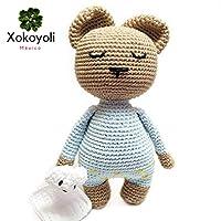 Oso hecho a mano (tejido a crochet). Un lindo regalo para bebés, niños y niñas