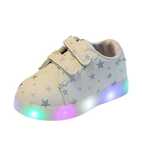 LED Flash Zapatos de Bebe, K-Youth® Zapatos Deportivos Otoñales Luces LED Zapatillas Deportivas Niños Calzado Infantil Zapatos para Bebe Zapatilla de ...