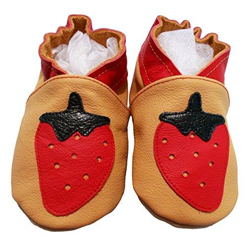 """""""fresa Melba2de bbkdom- Zapatillas Bebé y niños en piel suave de calidad superior fabricación Europea de 0–"""