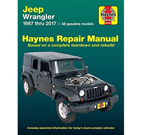 Haynes Repair Manual 50030 for Jeep Wrangler 1987-2017: 0038345017773:  Amazon.com: BooksAmazon.com