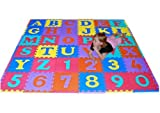 We Sell Mats 36 Alphabet and Number Floor Mat, Multi Color