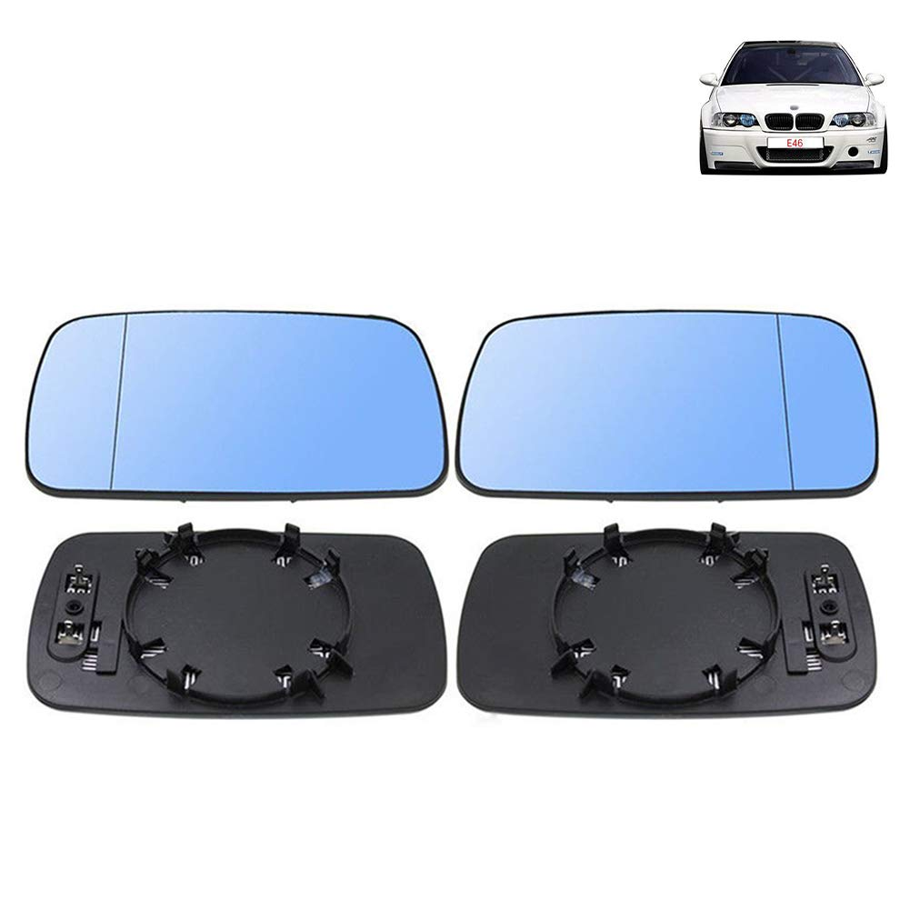 Left /& Right Door Side Heated Wing Mirror Glass For BMW 3//5 Series E39//E46