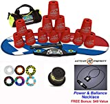 Speed Stacks Combo Set 'The Works'': 12 RED 4'' Cups, Atomic Punch Gen 3 Mat, G4 Pro Timer, Cup Keeper, Stem, Gear Bag + Active Energy Necklace