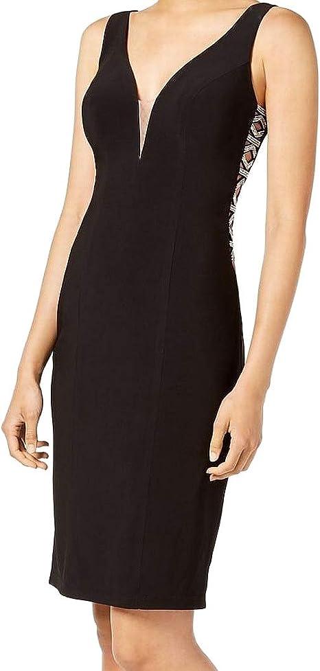 Xscape Black Maxi Dress Size 2 Formal Sequined Women/'s New*
